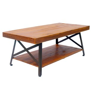 Union Rustic Houser Outdoor Wooden Coffee Table