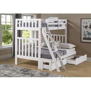 Crescent Twin Over Full Bunk Bed with Drawers by Harriet Bee