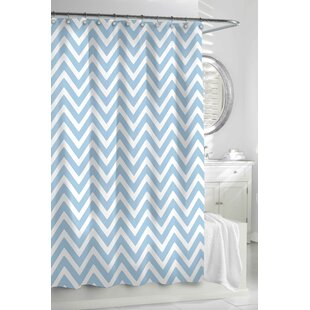 Best Reviews Gaines Chevron Cotton Shower Curtain By Longshore Tides