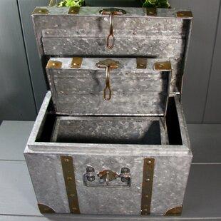 Annabelle 2 Piece Metal Planter Box Set By Borough Wharf