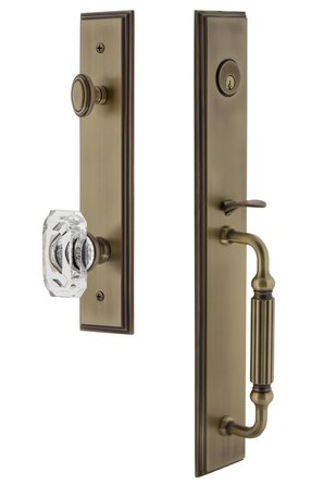 Complete Inactive Carré Dummy Handleset with Baguette Crystal Knob and Rosette