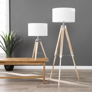Bauman 2 Piece Table and Floor Lamp Set