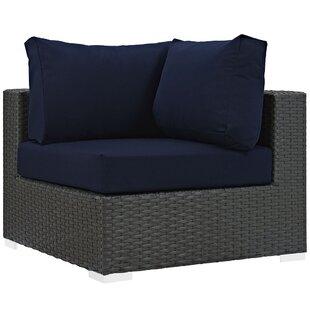 Brayden Studio Tripp Outdoor Patio Corner Chair with Cushion