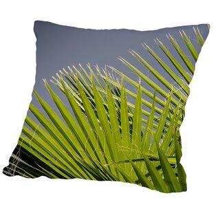 Palm Leaf Cotton Throw Pillow