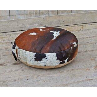 Mandel Cowhide Pouf by Union Rustic