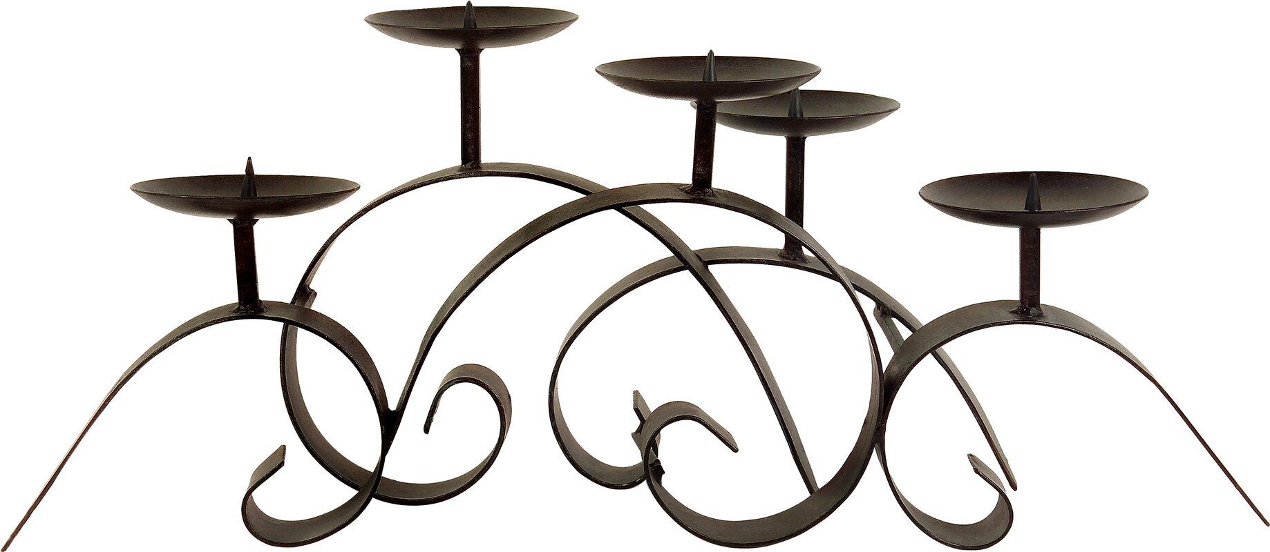 imax wrought iron centerpiece candelabra u0026 reviews wayfair