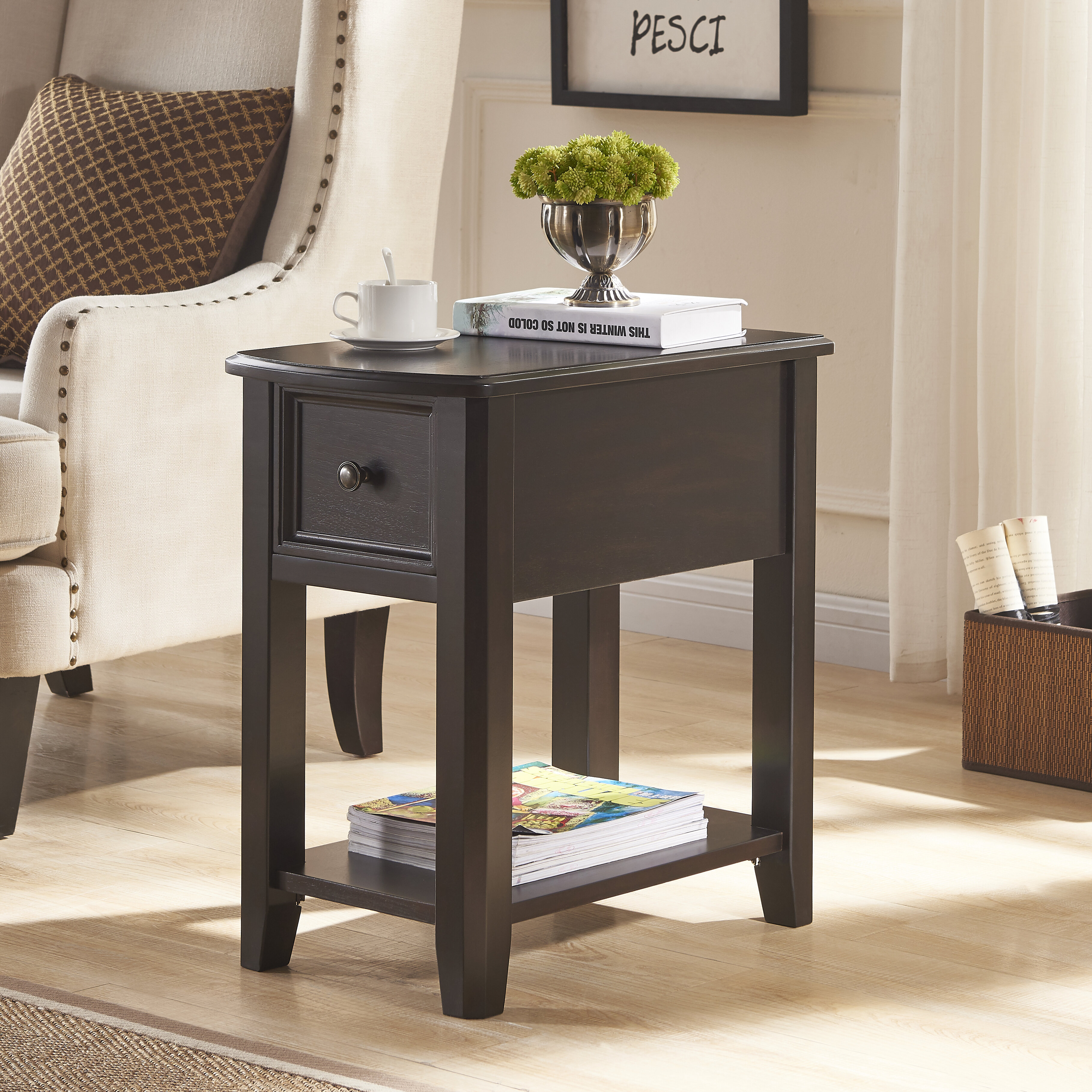Canora Grey Sadler End Table With Storage Reviews Wayfair