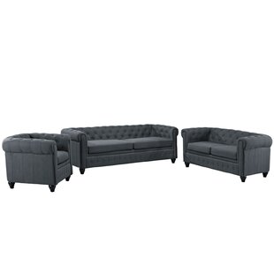 Comparison Earl 3 Piece Living Room Set by Modway Reviews (2019) & Buyer's Guide
