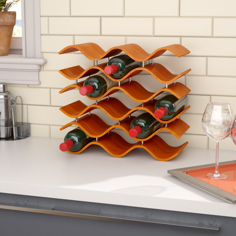 Ivy Bronx Chesney 15 Bottle Tabletop Wine Bottle Rack Reviews Wayfair