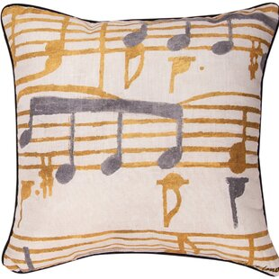 Music Stanzas I Throw Pillow