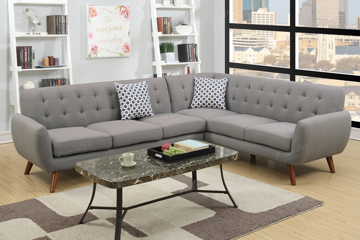 austin charcoal piece sofa bobkona reversible sectional