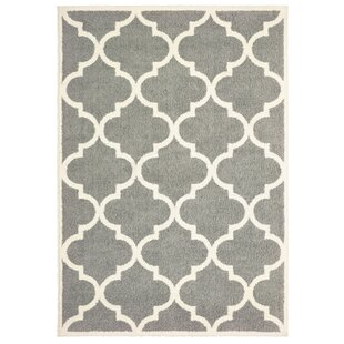 Priebe Lattice Gray/Ivory Indoor/Outdoor Area Rug
