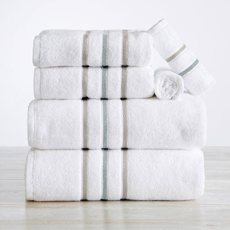 Latitude Run Allissa 100 Cotton 6 Piece Towel Set Wayfair