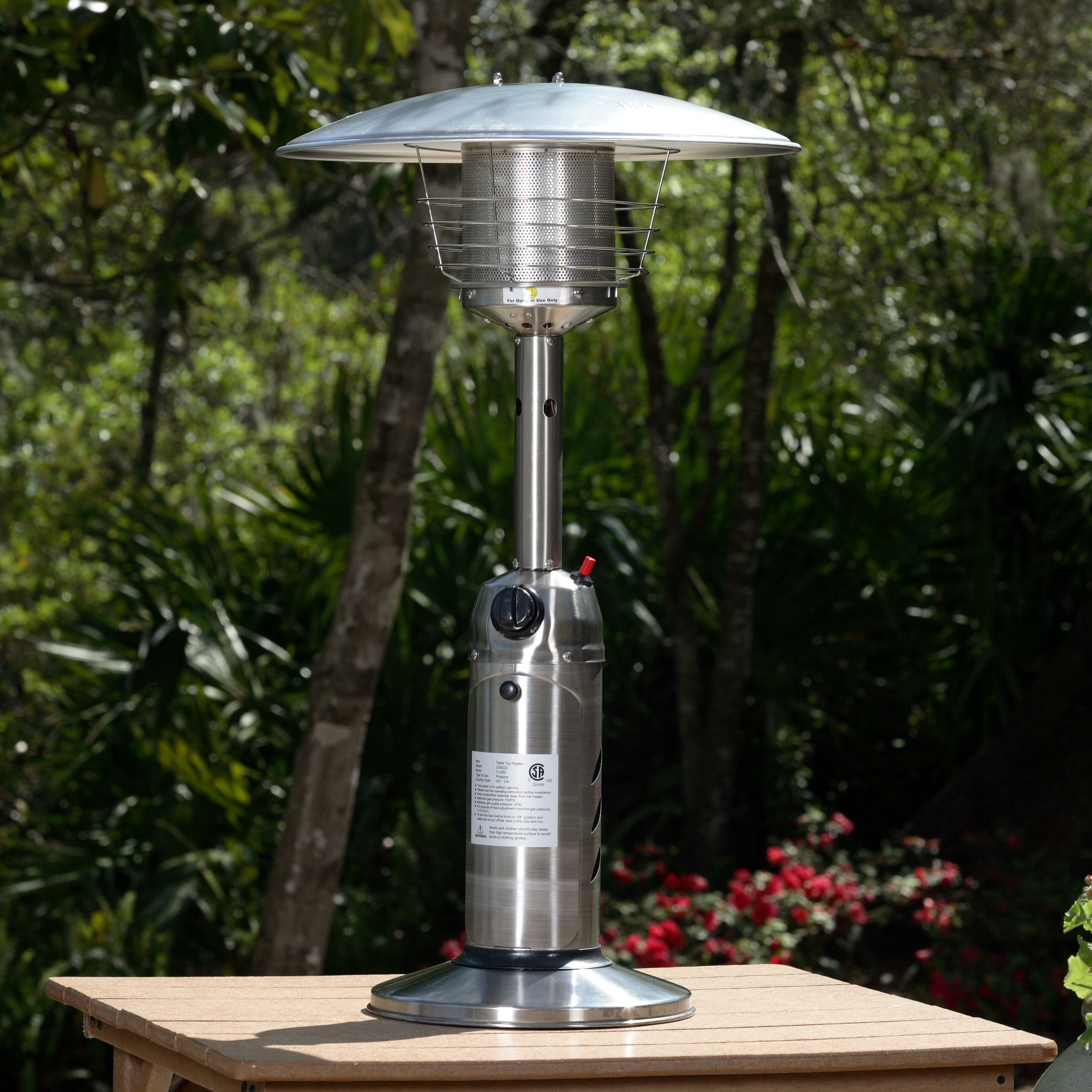 Fire Sense 10 000 BTU Propane Tabletop Patio Heater & Reviews