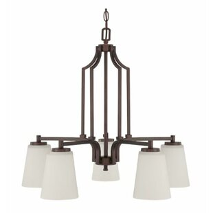 Winston Porter Woosley Down 5-Light Shaded Chandelier