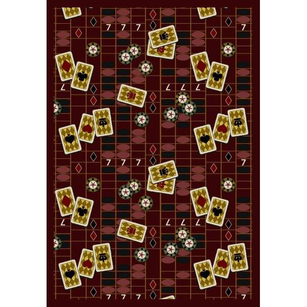 Joy Carpets Gaming And Entertainment Feeling Lucky Burgundy Red Area Rug Wayfair Ca