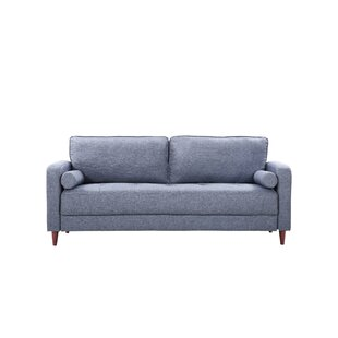 Mid-Century Modern Linen Fabric Living Room Sofa by Madison Home USA