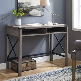 Eby Farmhouse Metal and Wood Desk