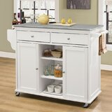 Krull Kitchen Cart with Stainless Steel Top by Alcott Hill®