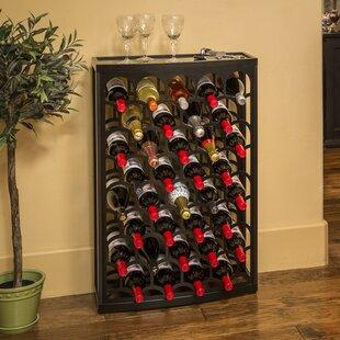 Art Deco Mango Steam 36 Bottle Floor Wine Rack