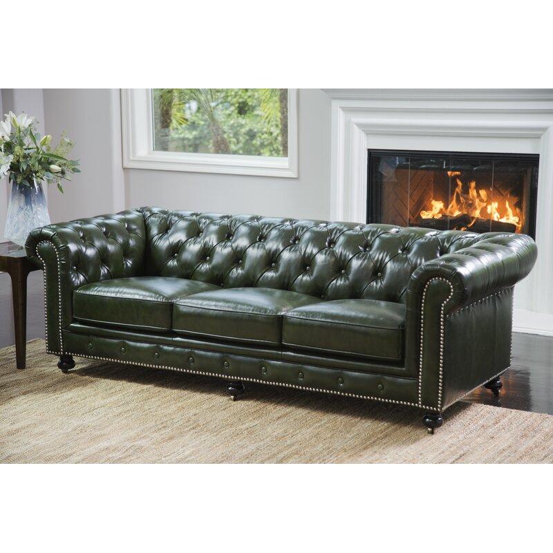 Kilie Virginia Leather Chesterfield Sofa