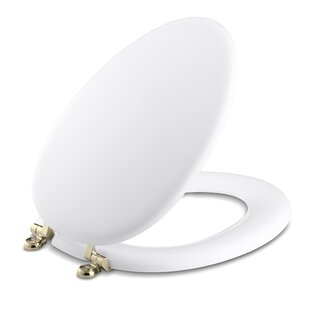 Kohler Kathryn Elongated Toilet Seat with Vibrant French Gold Hinges