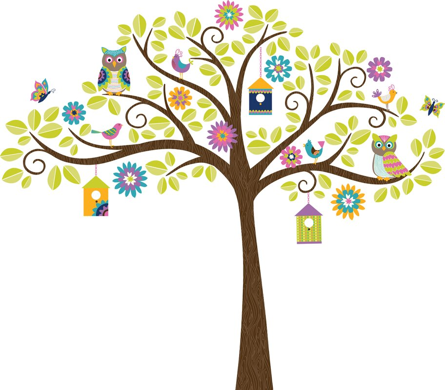 Jacob Owl Tree Wall Decal Part 24