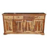 Traci Sheesham Wood 4 Door Sideboard by Loon Peak®