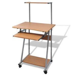 Computertisch mit rollen  Computertische: Metall | Wayfair.de