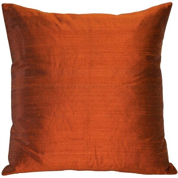 Bradley Solid Silk Throw Pillow