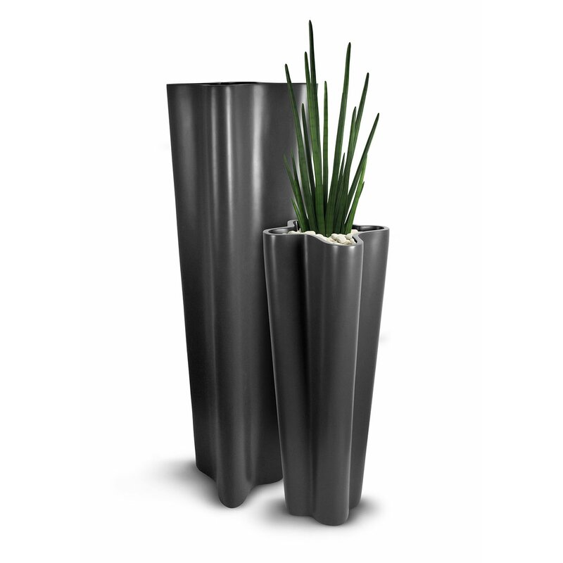 Bloomsbury Market Craver Fiberglass Pot Planter Wayfair