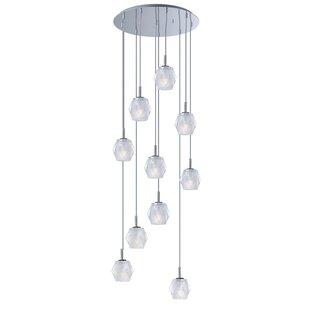 Eddins 10-Light Cluster Pendant by Orren Ellis