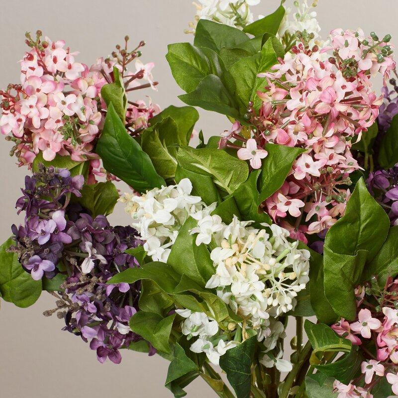 Glenham Lilac Silk Flower Arrangement Reviews Birch Lane