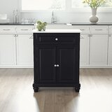 Audie Kitchen Cart with Granite Top by Charlton Home®