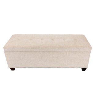 Millwood Pines Woodside Upholstered Storage Bench