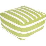Ira Square Striped Pouf by Latitude Run®