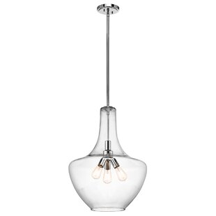 Laurel Foundry Modern Farmhouse Jewell 3-Light Schoolhouse Pendant