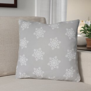 Snowflake Indoor/Outdoor Throw Pillow