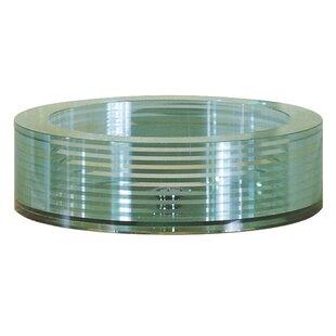 Avanity Tempered Segmented Glass Circular Vessel Bathroom Sink
