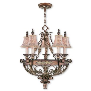 Fleur De Lis Living Browne 5-Light Shaded Chandelier