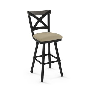 Karsten 30.5 Swivel Metal Frame Bar Stool by Union Rustic