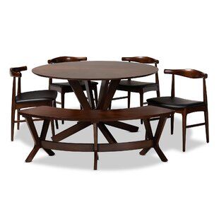 Southard Mid-Century Modern Upholstered 6 Piece Dining Set Ivy Bronx