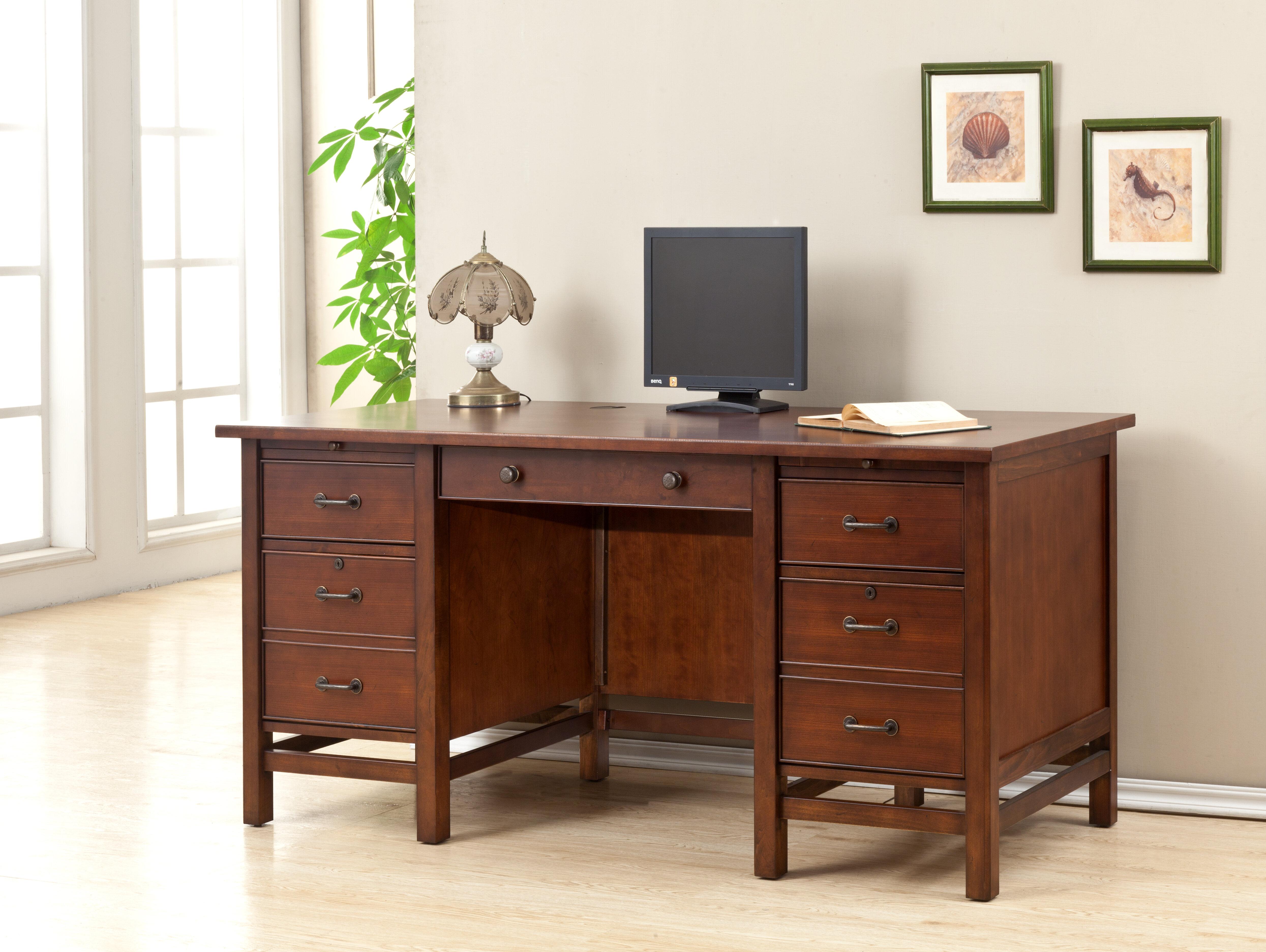 Darby Home Co Boonville Executive Desk   Wayfair