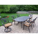 Zonia 7 Piece Dining Set with Cushions