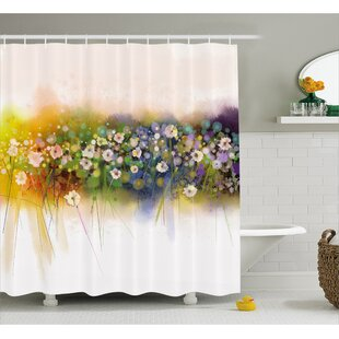 Gayla Vogue Display Wisteria Violets Wreath Fragrant Plants Herbs Artsy Single Shower Curtain