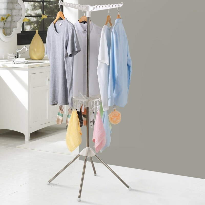 Collapsible 2 Tier Clothes Free Standing Drying Rack