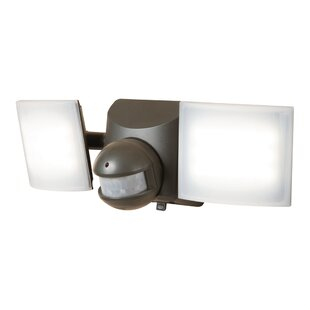 Cooper Lighting LLC 6-Watt LED Solar Power Outdoor Security Flood Light with Motion Sensor
