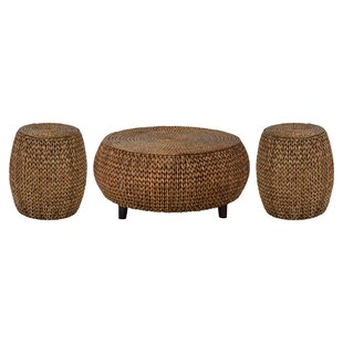 Beachcrest Home Nobles 3 Piece Coffee Table Set