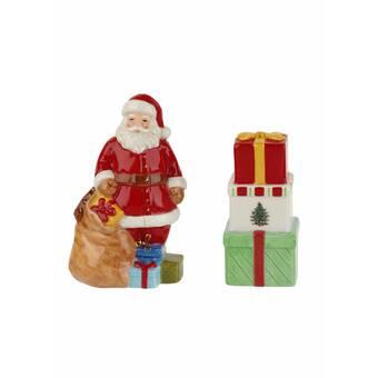 Cosmosgifts Cosmos Gifts Kissing Santa Couple Salt And Pepper Shaker Set Wayfair