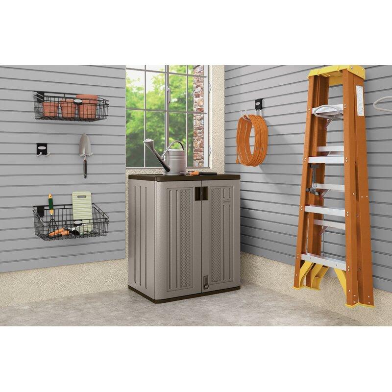 "Gray Suncast 36/"" Resin Garage Storage Cabinet Locker"